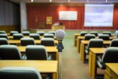 Микрофон конференц-зала конференц-зал Стоковые Изображения RF
