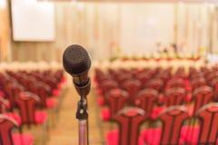 Микрофон конференц-зала конференц-зал Стоковое фото RF