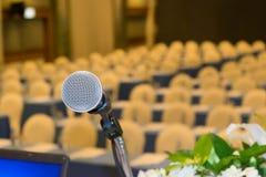 Микрофон конференц-зала конференц-зал Стоковое Изображение RF