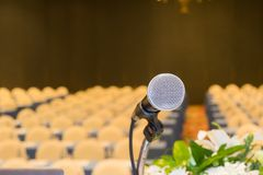 Микрофон конференц-зала конференц-зал Стоковые Изображения