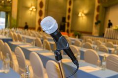 Микрофон конференц-зала конференц-зал Стоковое Фото