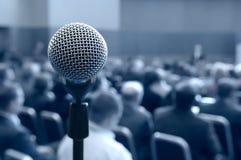 микрофон конференц-зала Стоковые Фото