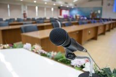 Микрофон конференц-зала Стоковое Изображение RF