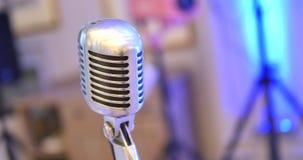 Микрофон микрофон ретро Микрофон на этапе Паб сток-видео