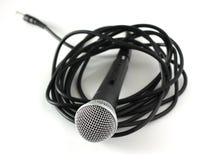 микрофон над белизной Стоковые Фотографии RF