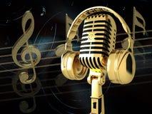 микрофон наушников Стоковая Фотография RF