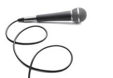 Микрофон на белой предпосылке Стоковые Изображения