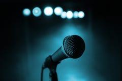 Микрофон на концерте Стоковая Фотография