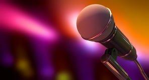 Микрофон на предпосылке цвета бесплатная иллюстрация