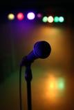 Микрофон на этапе Стоковая Фотография