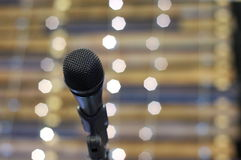 Микрофон на этапе Стоковые Фото