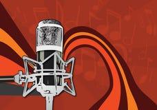 микрофон предпосылки Стоковое Фото