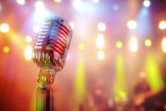 микрофон ретро Стоковые Фото
