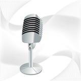 микрофон ретро Стоковое Фото