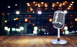 микрофон ретро Стоковая Фотография RF