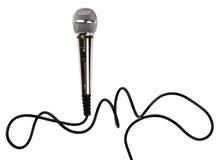 Микрофон с шнуром Стоковые Изображения RF