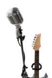 микрофон электрической гитары Стоковая Фотография
