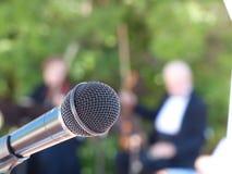 Микрофон для певицы Стоковая Фотография