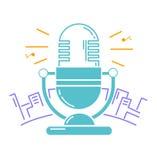 Микрофон для радио иллюстрация штока