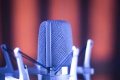 Микрофон voiceover студии Стоковые Изображения RF