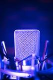 Микрофон voiceover студии Стоковое Изображение