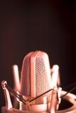 Микрофон voiceover студии Стоковое Изображение RF