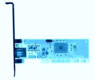 Микроэлектронная доска под рентгеновскими снимками Стоковое Изображение