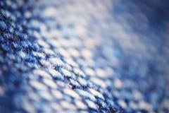 Микро- джинсовая ткань текстуры волокна Стоковое Изображение