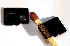 Микро- карточки sd Стоковое Изображение