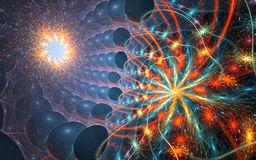 Микро- космос - предпосылка фрактали Стоковые Изображения