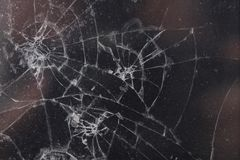 микро- фото поврежденного дисплея LCD телефона Стоковые Фотографии RF