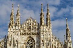 Милан, деталь фасада Duomo Италии Стоковая Фотография RF