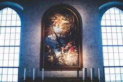 МИЛАН, ИТАЛИЯ - 10,2015 -ГО ДЕКАБРЬ: Церковь святая Mary Грейса (delle Grazie) Santa Maria, милана Стоковое Изображение