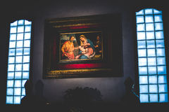 МИЛАН, ИТАЛИЯ - 10,2015 -ГО ДЕКАБРЬ: Церковь святая Mary Грейса (delle Grazie) Santa Maria, милана Стоковые Изображения