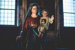 МИЛАН, ИТАЛИЯ - 10,2015 -ГО ДЕКАБРЬ: Церковь святая Mary Грейса (delle Grazie) Santa Maria, милана Стоковые Изображения RF