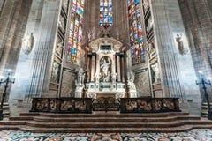 Милан, Италия - 25 06 2018: Интерьер купола Милана di Duomo Стоковое Фото