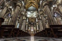 Милан, Италия - 25 06 2018: Интерьер купола Милана di Duomo Стоковые Изображения