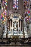 Милан, Италия - 25 06 2018: Интерьер купола Милана di Duomo Стоковая Фотография RF