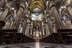 Милан, Италия - 25 06 2018: Интерьер купола Милана di Duomo Стоковые Фотографии RF
