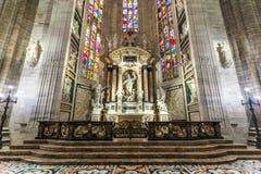 Милан, Италия - 25 06 2018: Интерьер купола Милана di Duomo Стоковое фото RF