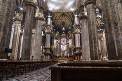 Милан, Италия - 25 06 2018: Интерьер купола Милана di Duomo Стоковое Изображение RF