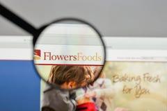 Милан, Италия - 10-ое августа 2017: Логотип еды цветков на websit Стоковая Фотография RF