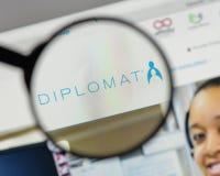 Милан, Италия - 10-ое августа 2017: Логотип фармации дипломата на мы Стоковая Фотография