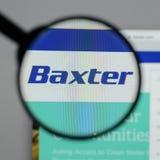 Милан, Италия - 10-ое августа 2017: Логотип Baxter международный на стоковые изображения rf