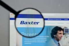 Милан, Италия - 10-ое августа 2017: Логотип Baxter международный на стоковая фотография rf