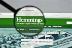 Милан, Италия - 10-ое августа 2017: Hemmings домашняя страница вебсайта com I Стоковое Изображение