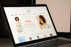 Милан, Италия - 7-ое мая 2017: Домашняя страница вебсайта бренда ЗАЗОРА F стоковые изображения rf