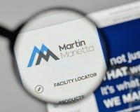 Милан, Италия - 1-ое ноября 2017: Логотип материалов Мартина Marietta Стоковая Фотография RF