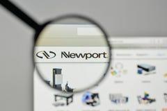 Милан, Италия - 1-ое ноября 2017: Логотип Ньюпорта на hom вебсайта Стоковая Фотография