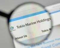 Милан, Италия - 1-ое ноября 2017: Логотип удерживаний Tokio морской на t Стоковые Изображения RF